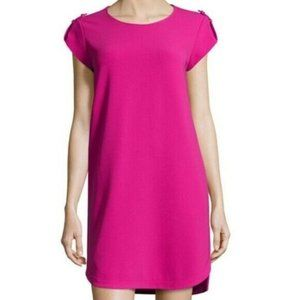 Diane Von Furstenberg Dominique Pink Shift Dress 4
